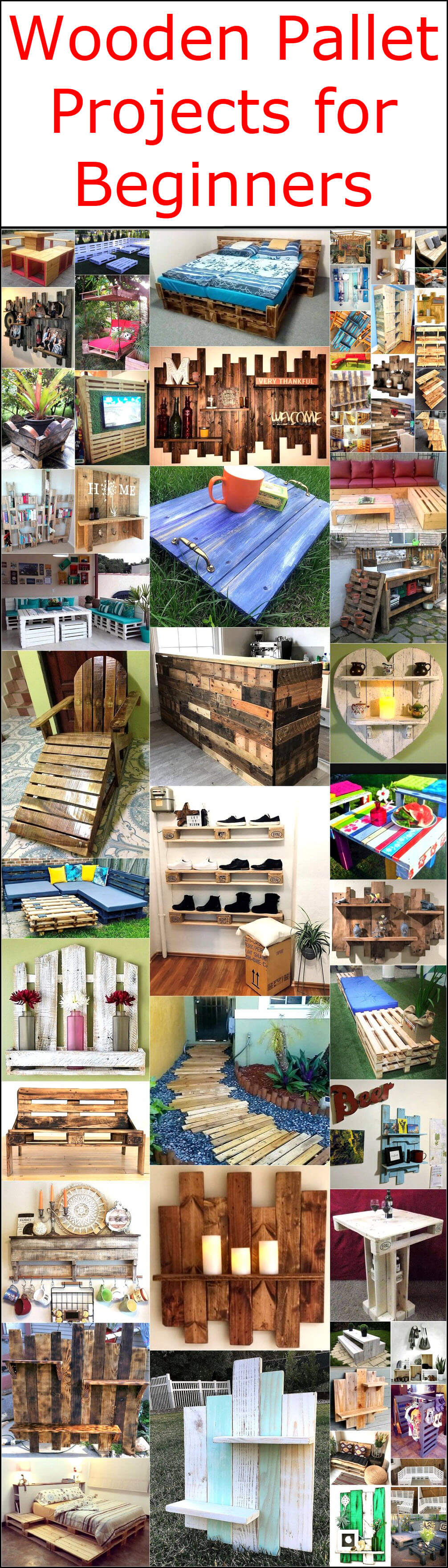 Wooden Pallet Projects For Beginners Wood Pallet Creations Diy