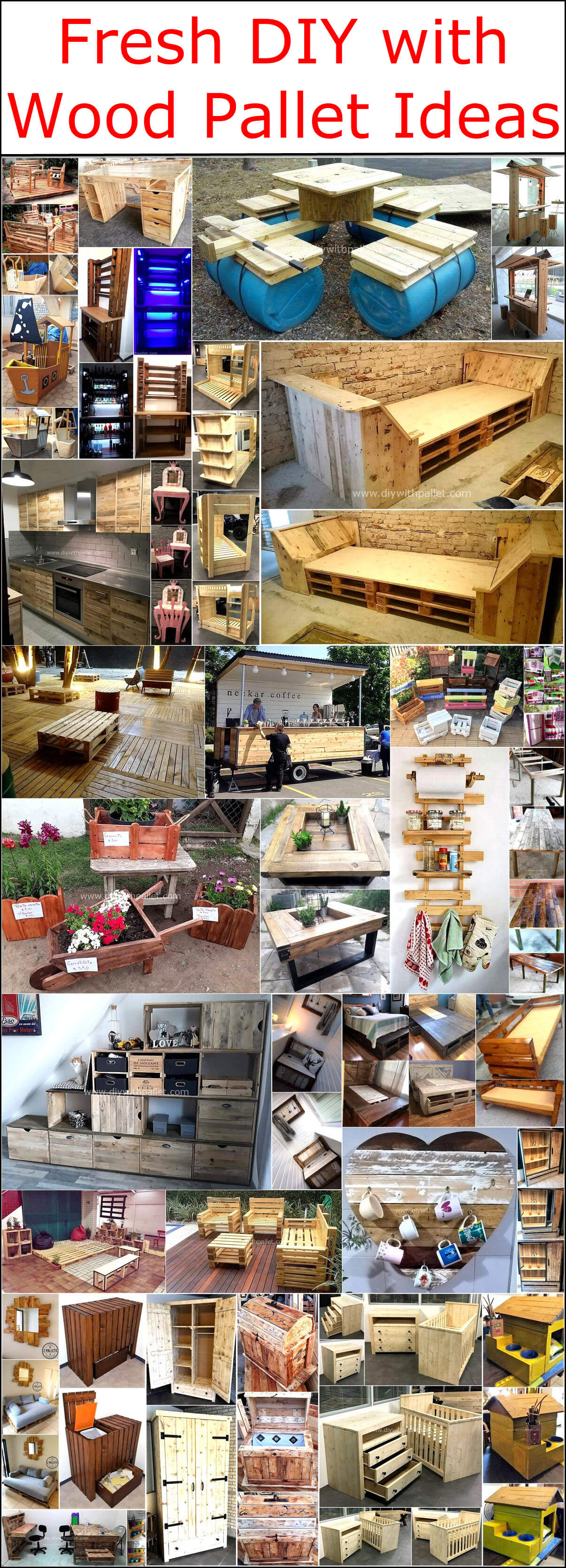 Fresh DIY with Wood Pallet Ideas | DIY with Pallets: ideas for Wood Pallet Furniture Plans and Projects.