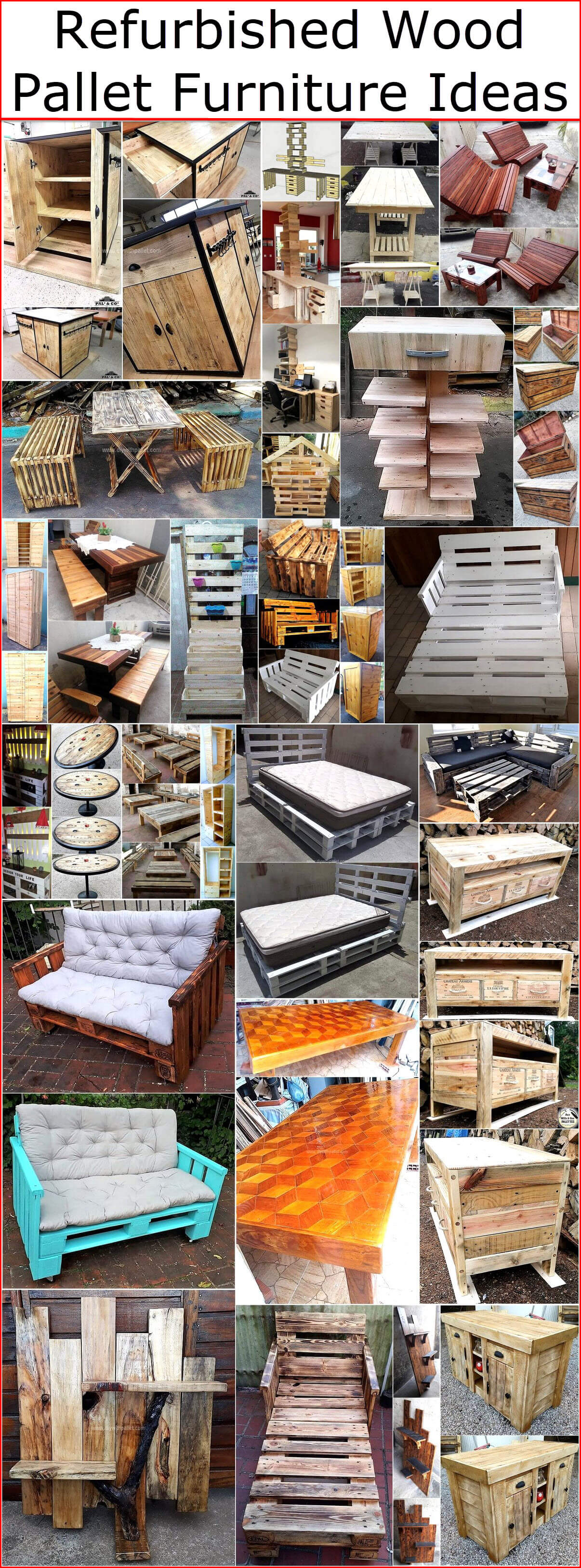 Refurbished Wood Pallet Furniture Ideas Wood Pallet Creations